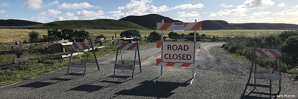 Road Closure At Abbotts Lagoon